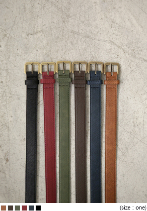 [ACC] LEATHER COLOR BELT