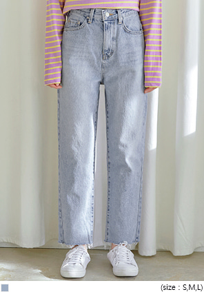 [BOTTOM] CASTLE SEMI BAGGY DENIM PANTS