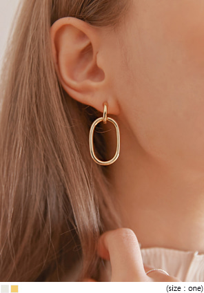 [JEWELRY] SIMPLE ELLIPSE DROP EARRING