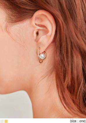 [JEWELRY] TORNADO PEARL RING EARRING