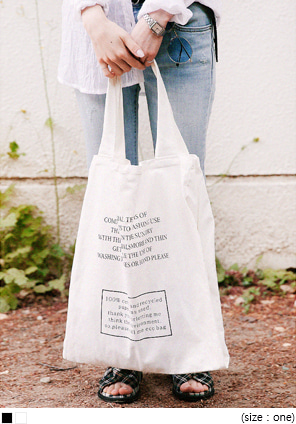[BAG] LETTERING COTTON BAG