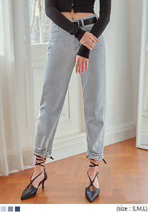 [BOTTOM] CONNECT SEMI BAGGY DENIM PANTS
