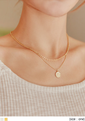[JEWELRY] DOING COIN LAYERED NECKLACE