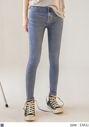 [BOTTOM] SOMEDAY WASHING DENIM SKINNY