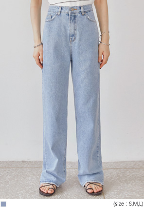 [BOTTOM] DELLA DAMAGE WIDE DENIM PANTS