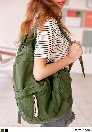 [BAG] FOREIND DAILY COTTON BACKPACK