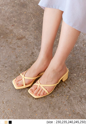 [SHOES] ZELA FLIP FLOP MIDDLE HEEL
