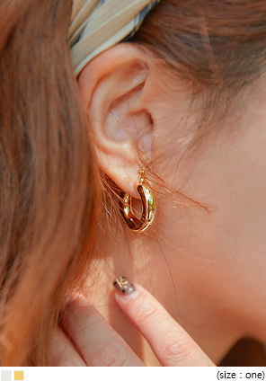 [JEWELRY] BOST SIMPLE BOLD RING EARRING