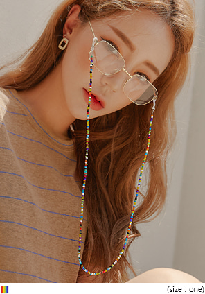 [ACC] LEND COLOR BEADS GLASSES STRAP