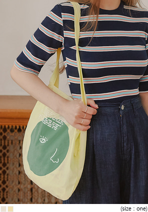 [BAG] HEIMISH LETTERING COTTON BAG