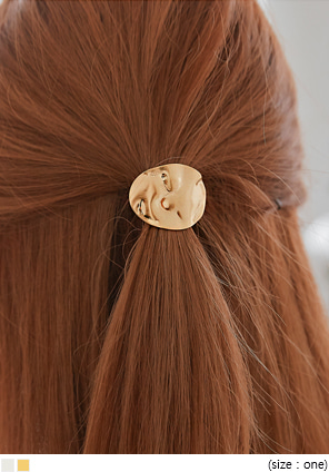 [ACC] METAL WAVE CIRCLE HAIR STRING
