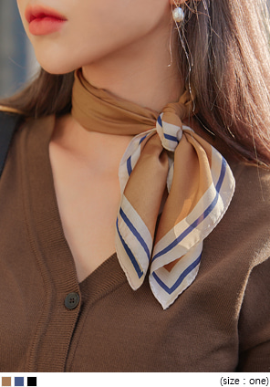 [ACC] ARVIN COLOR LINE POINT SCARF