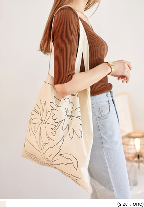 [BAG] WILD FLOWER LETTERING ECO BAG