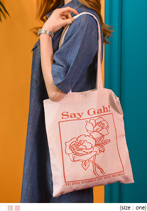 [BAG] ROSE PRINTING ECO BAG