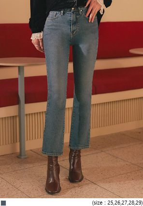 [BOTTOM] FERIEN SEMI BOOTS DENIM PANTS