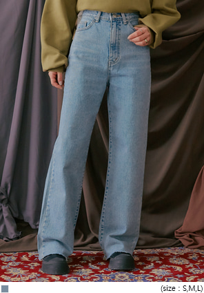 [BOTTOM] RITON CUTTING WIDE DENIM PANTS