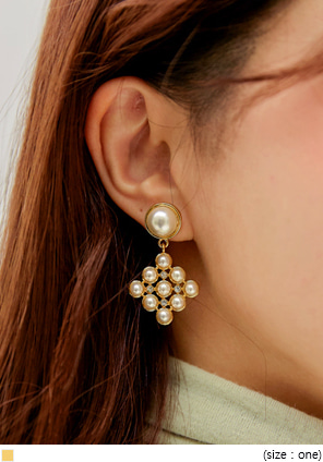 [JEWELRY] ORBE PEARL DROP EARRING