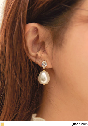 [JEWELRY] ZENIX PEARL DROP EARRING
