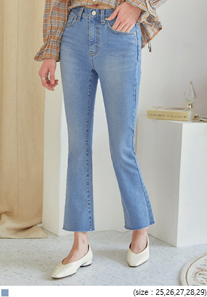 [BOTTOM] LABES SLIM BOOTS DENIM PANTS