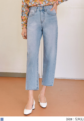 [BOTTOM] TREM SEMI BAGGY DENIM PANTS