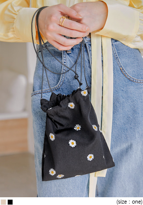 [BAG] FLOWER PRINTING MINI BUCKET BAG