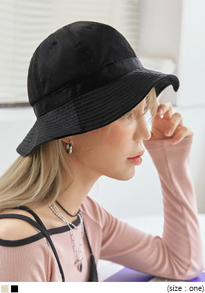 [ACC] UDIA SATIN BUCKET HAT