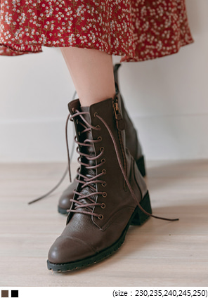 [SHOES] REAL SHEEPSKIN LACE-UP WALKER