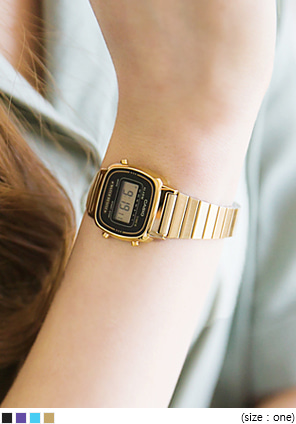 [ACC] CASIO COLOR FRAME GOLD WATCH