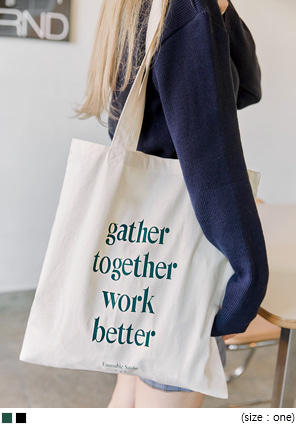 [BAG] GATHER LETTERING ECO BAG