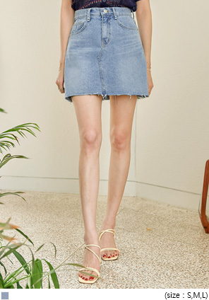 [SKIRT] FUNY CUTTING DENIM MINI SKIRT
