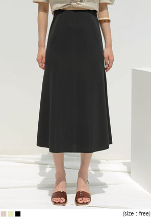 [SKIRT] POI HIDDEN BANDING FLARE LONG SKIRT