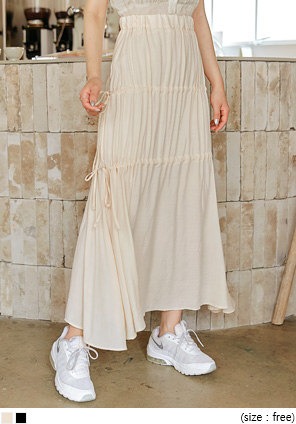 [SKIRT] LOMEI STRING BANDING LONG SKIRT