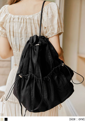 [BAG] TIVA POCKET STRING BACKPACK