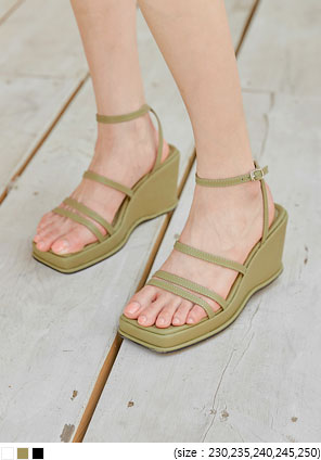 [SHOES] BRNO STRAP WEDGE SANDAL