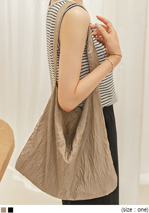 [BAG] NYLON WRINKLE SHOULDER BAG