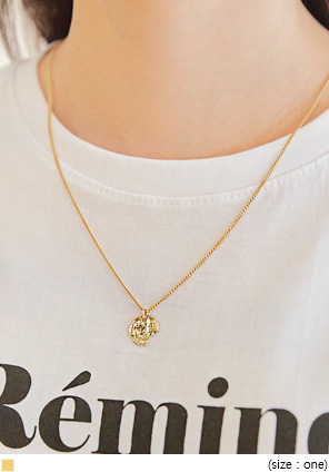 [JEWELRY] VINTAGE GOLD PENDANT NECKLACE