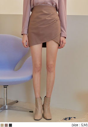 [SKIRT] RINDA UNBAL SHIRRING MINI SKIRT