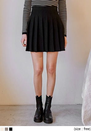 [SKIRT] RODEN PLEATS KNIT MINI SKIRT