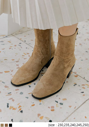 [SHOES] JET WESTERN ANKLE BOOTS - 2 TYPE