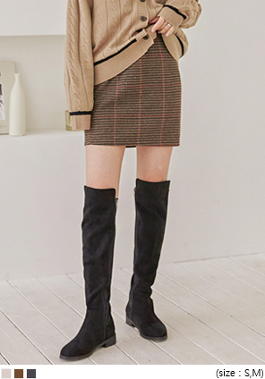 [SKIRT] HOUND CHECK WOOL MINI SKIRT